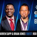 Warren Sapp Brian Jones Rod Woodson Smiling for BetUS Unfiltered Podcast