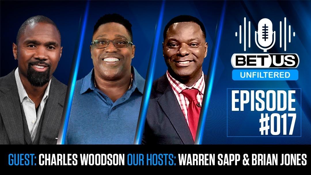 BetUS Unfiltered #017 | Heisman & Super Bowl Winner Charles Woodson is Guest with Warren Sapp & BJ